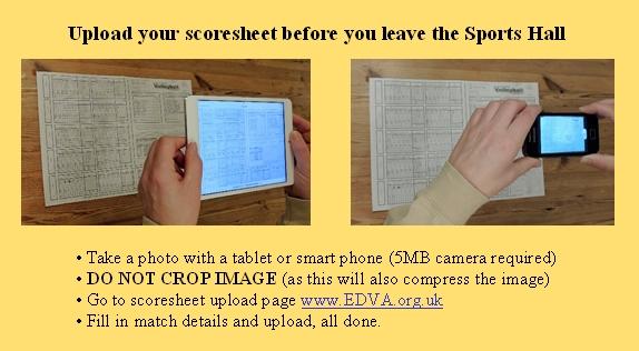 Upload Scoresheet EDVA